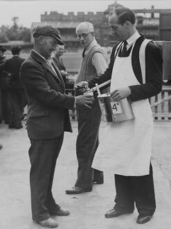 Knapsack tea at the cricket at Lord's, London, England