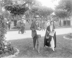 Well Known Society at Deauville Lord Carnarvon with his daughter Lady Evelyn Herbert