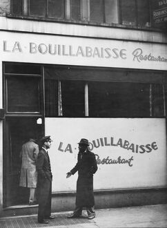 La Bouillabaisse restaurant in Soho London, England. 1945