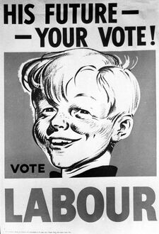 adverts posters/labour posters general election campaign 1950