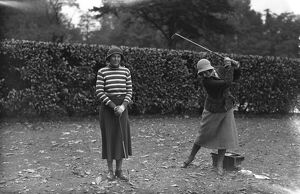 Ladies Parliamentary Golf at Ranelagh. Mrs E Martin Smith and Lady Doris Gunston 1932