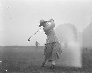 Ladies Parliamentary golf versus United services associations Miss Molly Griffiths