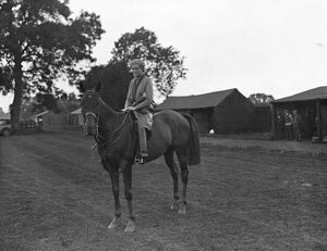 Ladies Polo Players at Spring Hill, Rugby Miss Bunty Balding 26 August 1931