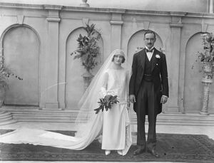 Lady Evelyn Herbert weds. Lady Evelyn Herbert and Mr Brograve C Beauchamp were