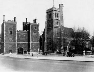 Lambeth Parish Church and entrance to Lambeth Palace