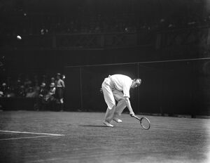 Lawn tennis championships at Wimbledon. Anderson in play. 25 June 1925