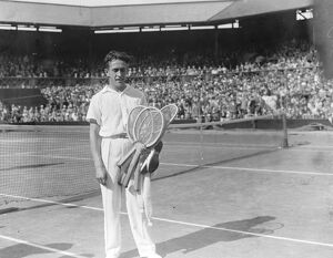 Lawn tennis at Wimbledon. M Cochet after his victory. 30 June 1927