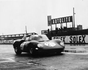 Le Mans France The Ferrari No 21 driven by World Chapion for 1964 John Surtees is