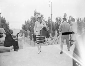 On the Lido Lady Wimborne 25 August 1926 believed to be Alice Grosvenor