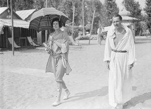 On the Lido Miss Iris Ford and Count Maurice De Bosdari 25 August 1926