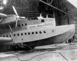 The Lieutenant de Vaisseau in Paris - the great six engined flying boat which has