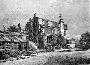 The Life of Charles Dickens The house and conservatory of Gadshill Place from the meadow