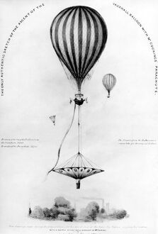 London and Lee : The only Authentic Sketch of the Ascent of the Vauxhall Balloon