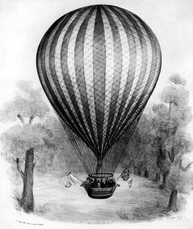 London : The Vauxhall Royal Balloon , coloured lithograph , after Black , by Alvey 9