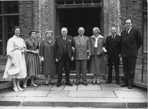 Lord Beaverbrook is seen here in the group when former US President Harry Truman