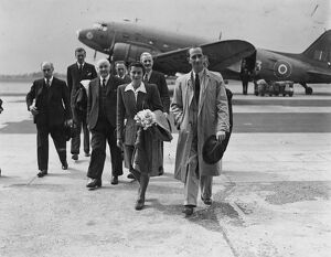 The Lord Mayor of Budapest, Hungary, Jozsef Kovago, arrived at Croydon by air. He