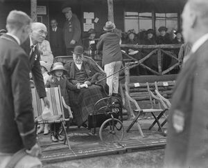 Lord Rosebery opens bowling green at Epsom. Lord Rosebery on his way to the ceremony