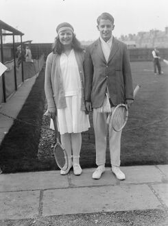 Magdalen Park lawn tennis tournament at Wandsworth. Miss Betty Nuttall and H W Austin