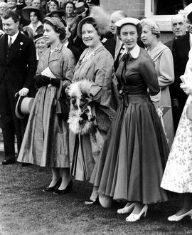 Her Majesty the Queen, the Queen Mother and Princess Margaret at Royal Ascot. 17th