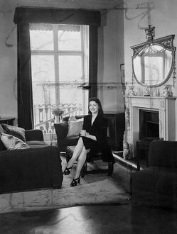 Margot Fonteyn at home. 22 March 1946