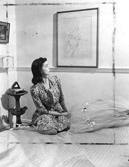 Margot Fonteyn at home. Margot Fonteyn, whose technique has been rated above that
