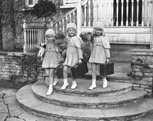 The Mawby triplets ; the Misses Angela, Claudine and Claudette Mawby, daughters of
