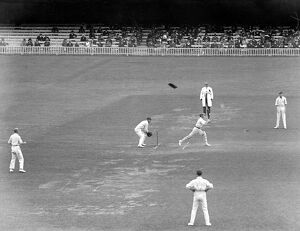 Middlesex V Kent at Lords. Murrell (Middlesex) keeping wicket. 13 May 1920