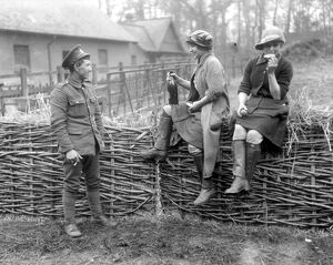 Milkmaids being trained under the National Service Scheme at Epping Forest