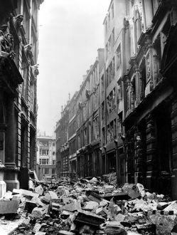 Mincing Lane after the Blitz, Second World War