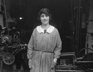 Miss Annette Ashberry, first woman member of Society of Engineers. 2 March 1925
