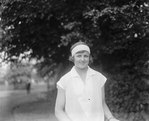 Miss Betty Nuthall, the tennis star. 17 May 1927