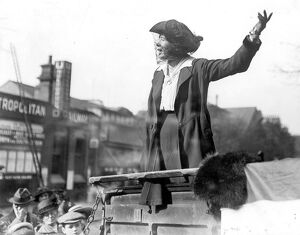 Miss Christabel Pankhurst, at the East Islington election 20th October 1917