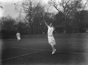 Miss Joan Fry, Tennis player 5 May 1925
