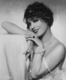 Mlle Lily Damita, film star. 23 January 1928