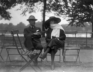 Mme Peletier with her husband sitting in Hyde Park, London. She is an English