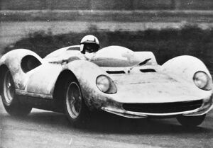 Modena Italy John Surtees is shown here trying out a New Ferarri GT prototype. February