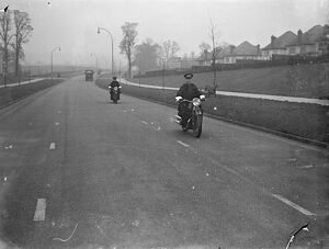 Motor cycle speed police on the Brighton Road