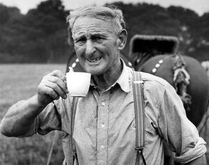 Mr A.W. (Jack) Pearce of Lymington, Hampshire is out to beat the world horse ploughing