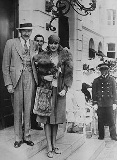 Mr and Mrs Adolphe Menjou at Le Touquet. 1 August 1929 Adolphe Jean Menjou