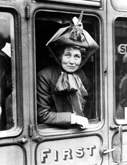Mrs (Emily) Emmeline Pankhurst, English suffragette