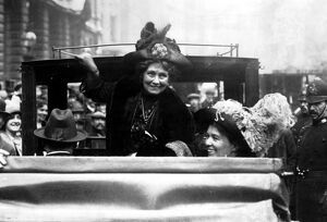 Mrs Pankhurst 1858-1928 with Mrs Michael Foot, 1912