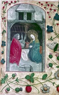 Nativity. Book of Hours, Flanders, 2nd half 15th Cent