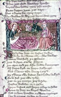 Nativity. English Illumination in 13th and 14th Cent