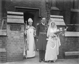 Naval officers wedding The Bishop of London officiated at the at the marriage at