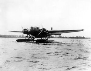 The new US Army seaplane bomber ready to take off at Langley Field , Virginia