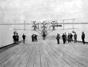 The new giant Blackburn flying boats (' Iris' III type) at the launch at Brough