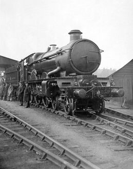 The New Great Western Railway Engine 'Caerphilly Castle' on the occasion