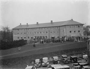 The new nurses homes at the Memorial Hospital in Shooters Hill, London, where Sir