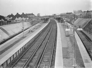The new Swanley train station in Kent. <br> 1939