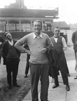 Norman L Derham returns to Southend after victorious channel swim. 18 September 1926